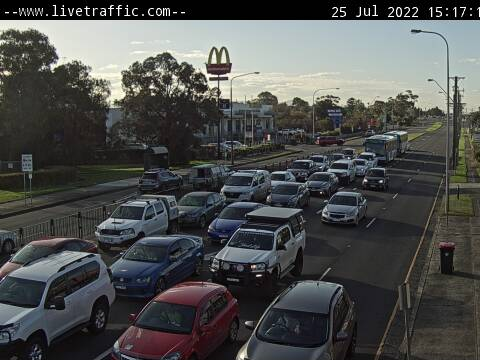 Webcam at Shellharbour Road at Lake Entrance Road Warilla