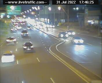 Silverwater Road at M4 Western Motorway