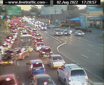 Webcam at Silverwater Road at M4 Western Motorway Silverwater