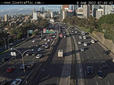 Webcam at Warringah Freeway North Sydney